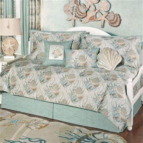 coastal seashell daybed bedding set