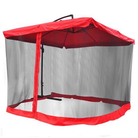 9 square outdoor patio hanging offset aluminum umbrella tilt mesh net 200g pa ebay