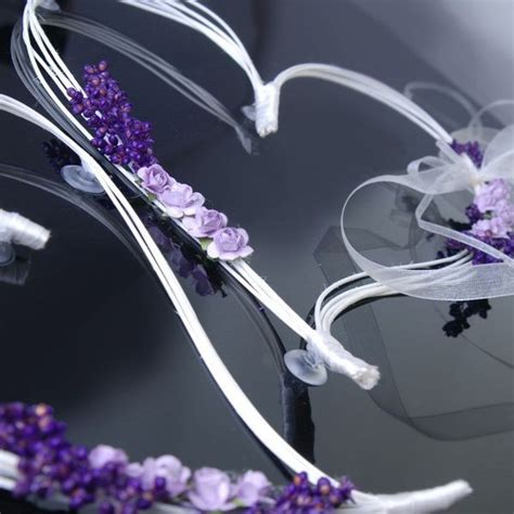 coeur en rotin avec fleur parme pour d 233 coration de voiture de mariage x 2 pi 232 ces