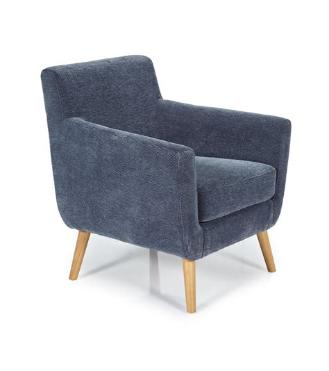 serene kelso occasional chair blue fabric upholstery