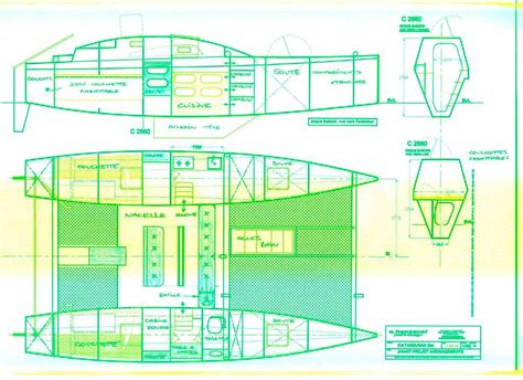 Catamaran Plans Plywood by Catamaran Plan Plywood Boat Design Tekne Pinterest