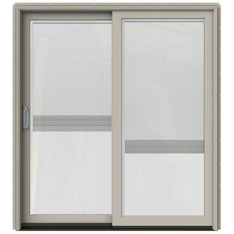 Patio Door With Blinds Between Glass by Shop Jeld Wen W 2500 71 25 In Blinds Between The Glass