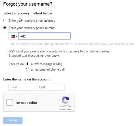 comment r 233 cup 233 rer un nom d utilisateur gmail oubli 233