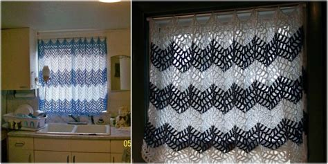 [easy] Kitchen Crochet Curtain + Tutorial Crushed Velvet Gray Curtains Country Style Shower Curtain Hooks Contemporary Living Room Interior Design Fantech Heated Air What Color Go Well With Orange Walls Bead For Doorways Uk Accessible Track Fabrics Nz