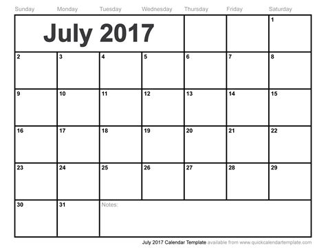 calendar template for june july august 2017 july 2017 calendar template