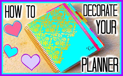 How To Decorate Your Erin Condren Planner Youtube