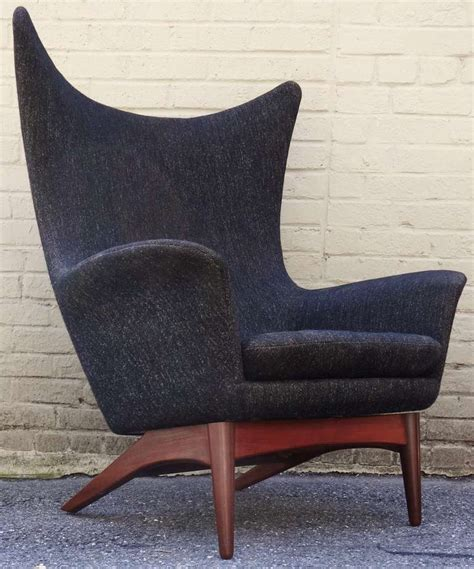 1950 s h w klein modern reclining wing chair