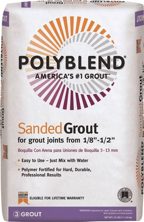 polyblend pbg1025 sanded tile grout 25 lb bag no 10 antique white solid powder
