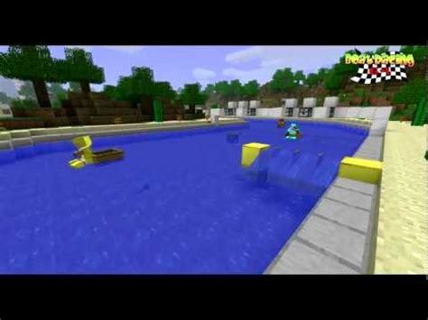 Mini Boat Game by Boat Racing 64 Mario Kart Mini Game Minecraft Project