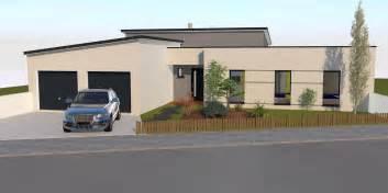 maison moderne plain pied toit plat maison moderne