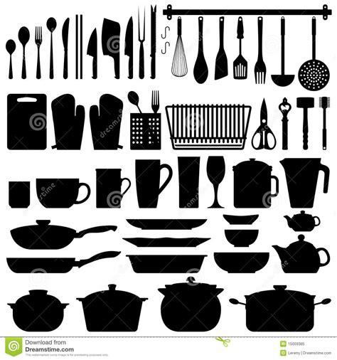 vecteur de silhouette d ustensiles de cuisine photo libre de droits image 15003385