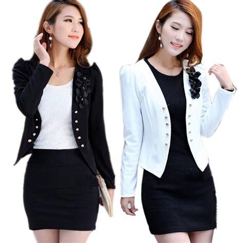 office blazer slim suit jacket coat sleeve floral top ebay