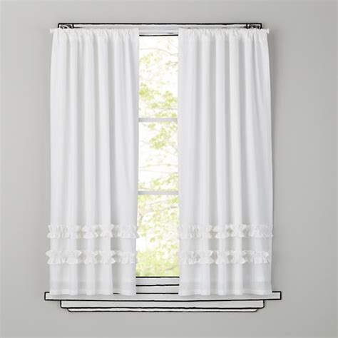 curtains white ruffle curtain panels the