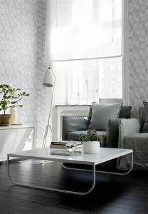 Moderne Tapeten Wohnzimmer : tapete in grau stilvolle vorschl ge f r wandgestaltung ~ Markanthonyermac.com Haus und Dekorationen
