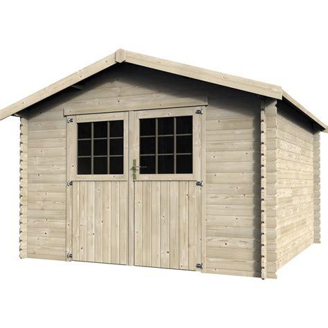 abri de jardin en bois flov 232 ne 9m2 233 p 28mm leroy merlin