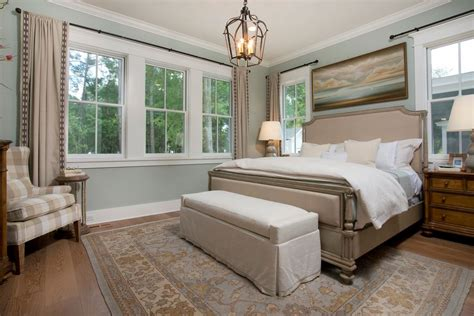 Traditional Master Bedroom With High Ceiling By J Banks