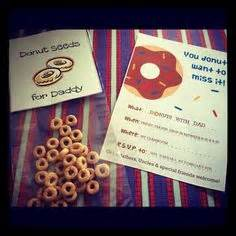 "Poem Invite to ""Donuts for Dad"" on back of tie 