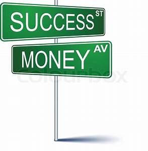 Vector direction sign with Success money words | Stock ...