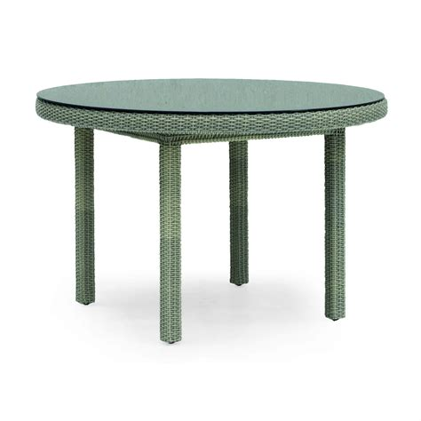 table basse ronde resine tressee ezooq
