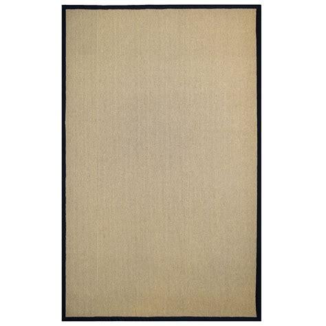 8x10 area rugs home depot lanart rug sisal black 4 ft x 6 ft area rug the home