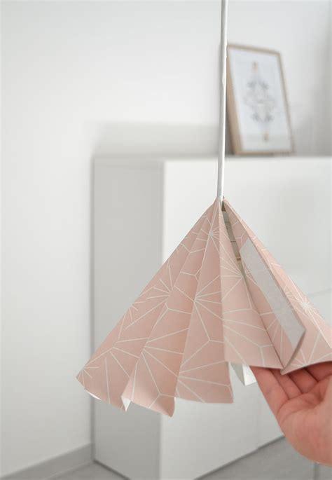 diy sympa transformer un papier peint en abat jour bricobistro
