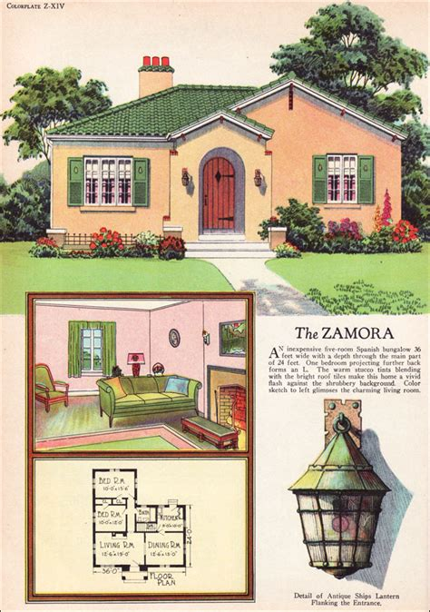 inspiring vintage house plans photo 1927 radford zamora eclectic style small house