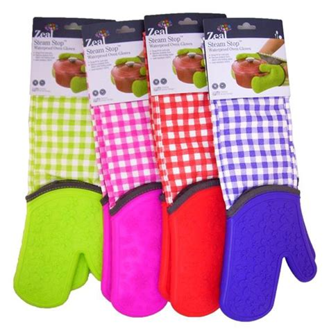 Zeal Oven Gloves by Zeal Steam Stop Silicone Double Oven Gloves