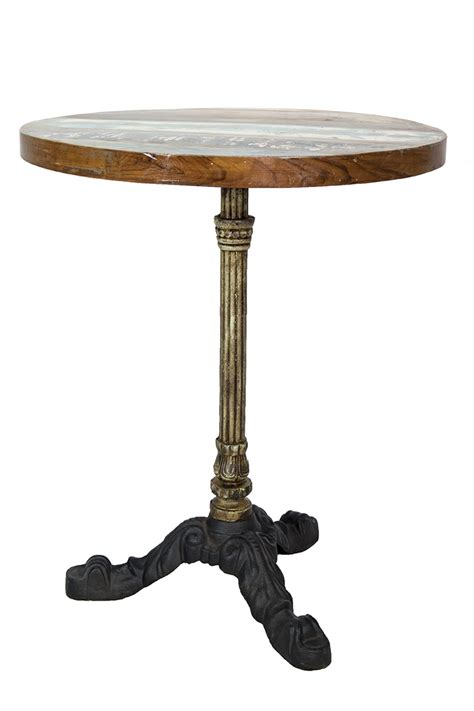 table ronde de bar de style parisien pied en fer forg 233