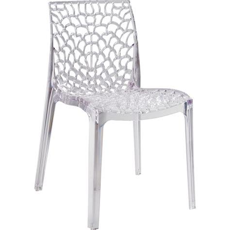 chaise de jardin en polycarbonate grafik transparent leroy merlin