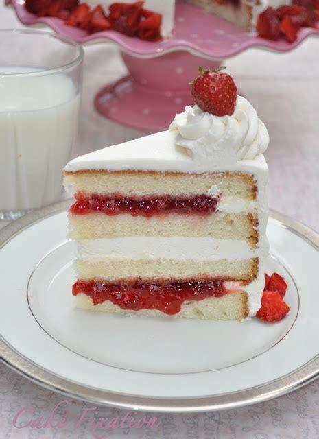 white cake with strawberry filling cake fixation vanilla cake with strawberry jam recipe and