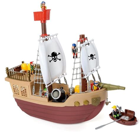 Pirate Boat Toy by Toyrific Childrens Pirate Ship Boat Cannon Treasure Ship