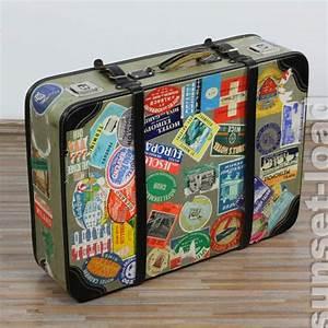 Alter Koffer Deko : alter reise koffer viele hotel aufkleber deko 50er jahre 70x 50x20cm vintage alt ebay ~ Markanthonyermac.com Haus und Dekorationen