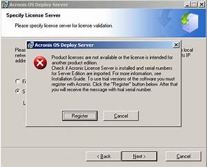 Acronis Snap Deploy 3: OS Deploy Server Installation Fails ...