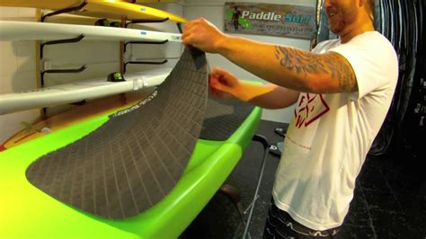 how to install a paddle board deck pad