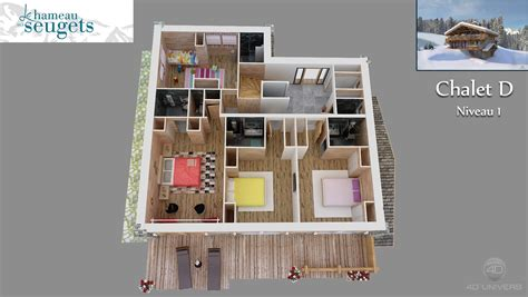 cuisine chalet d studio animation d architecture d visites plan de chalet gratuit plan de