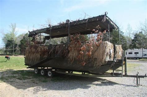 Used Duck Hunting Boats For Sale In Michigan by Pontoon Duck Blind Photos