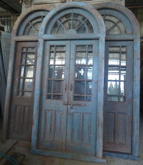 porte interieure ancienne vitr 233 e 2 vantaux avec imposte plein cintre porte entr 233 e
