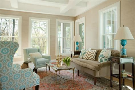 grey brown and turquoise living room brown and blue living room transitional living room