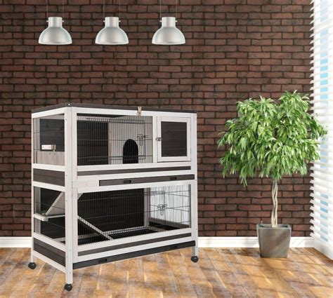 cage clapier lapin d interieur hutchland animaloo