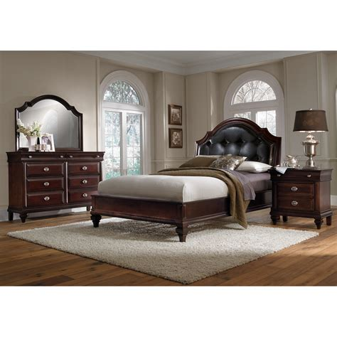 manhattan 6 bedroom set cherry american signature furniture
