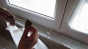 Gardinenstange Ohne Bohren Anbringen : gardinenstange klemmstange ohne bohren und kleben youtube ~ Markanthonyermac.com Haus und Dekorationen