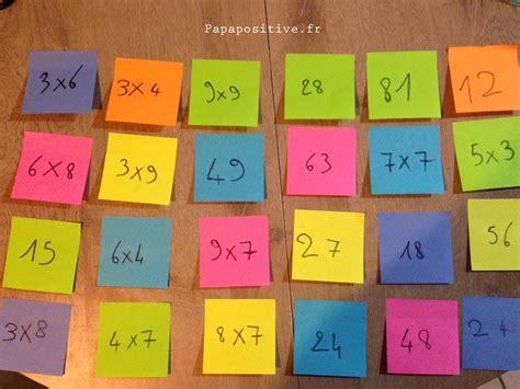 apprendre les multiplications la m 233 thode des post it 174