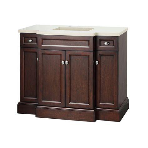 foremost bathroom teagen 42 in vanity in espresso with engineered vanity top in