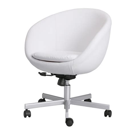 White Swivel Desk Chair Ikea by White Office Chairs Takin Care Of Business