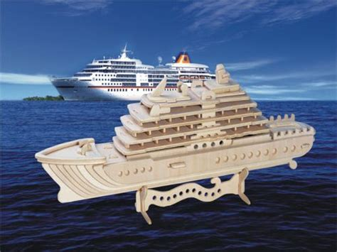 Schip Puzzel by Cruise Ship 3d Jigsaw Woodcraft Kit Wooden Puzzle