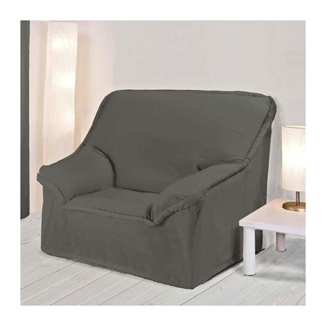 housse fauteuil a accoudoirs anthracite