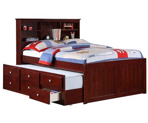 size captains bed with trundle by donco trading at furniture waehouse orlando ta