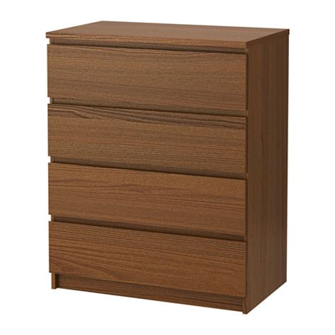 malm chest of 4 drawers brown stained ash veneer ikea
