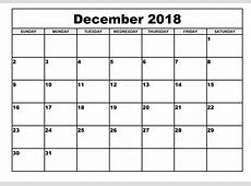 december calendar 2018 Baskanidaico