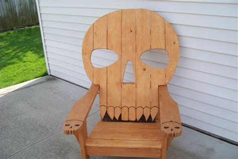 skull chair by mikede lumberjocks woodworking